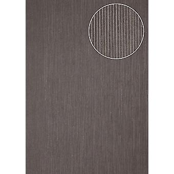 Fine stripe wallpaper Atlas COL-855-3 non-woven wallpaper structured with structure shimmering Grey Slate Grey Silver 5.33 m2