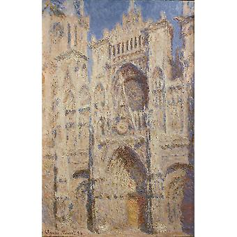 Claude Monet - Rouen Cathedral The Portal (Sunlight) Poster Print Giclee