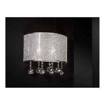 Schuller Andromeda Chrome 2 Light Wall Lamp