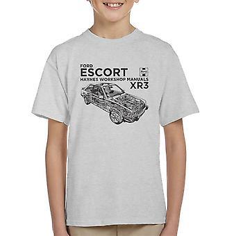 Haynes proprietários Workshop Manual Ford Escort preto camiseta infantil