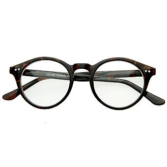 Vintage Inspired Clear Lens Small Circle Round Sunglasses
