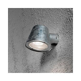 Konstsmide Trieste Galv Steel Saucer Down Wall Light
