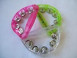 Tambourine Lite-Up Assorted Colours
