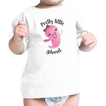 Pretty Little Ghoul Baby Girl Halloween maglietta bianca neonato t-shirt