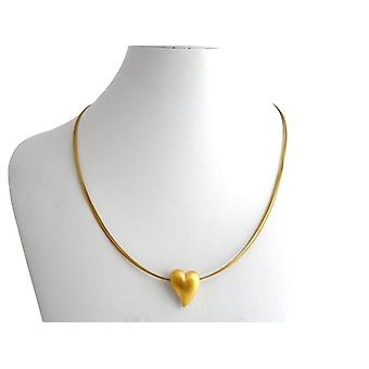 Heart Necklace pendant heart gold chain gold necklace heart silver gold plated