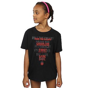 Star Wars Girls The Last Jedi Dark Side Echo T-Shirt