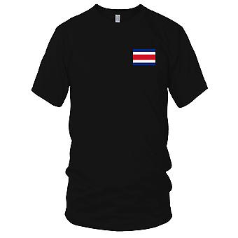 Costa Rica land nationale Flag - broderet Logo - 100% bomuld T-Shirt børn T Shirt