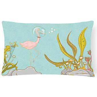Фламинго подводный #2 холст ткани декоративные подушки
