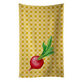 Carolines Treasures  BB7210KTWL Radish on Basketweave Kitchen Towel