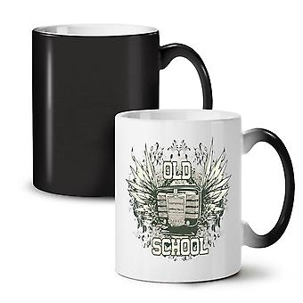 Old Music School Vintage NEW Black Colour Changing Tea Coffee Ceramic Mug 11 oz | Wellcoda