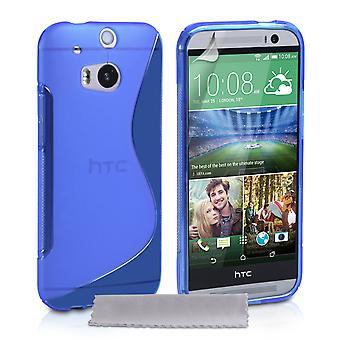 Caseflex HTC eine M8 Silikon Gel S-Line Case - blau
