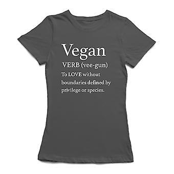 Vegansk Verb definisjon tilbud kvinner t-skjorte