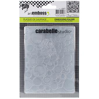 Carabelle Studio Embossing Folder-Circles & Dots AE60011