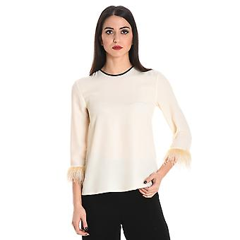 Jucca ladies J2622004045 beige/white acetate T-Shirt