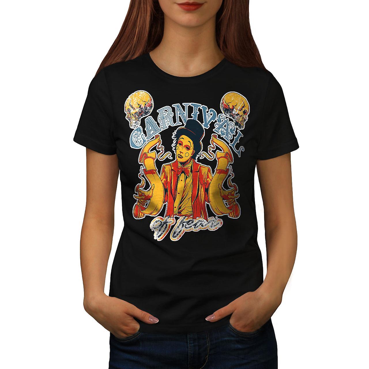 Carnival Of Fear Horror Women Black T-shirt | Wellcoda