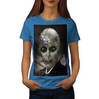 Alien UFO Mystic Fantasy Women Royal BlueT-shirt | Wellcoda