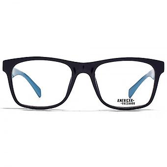 American Freshman Austin Oversized Rectangle Glasses In Dark Blue