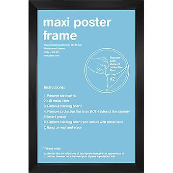 61x91.5cm Square Black Satin Maxi Frame