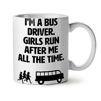Handsome Bus Driver NEW White Tea Coffee Ceramic Mug 11 oz | Wellcoda