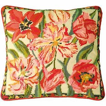 Peach Blossom Tulips Needlepoint Kit