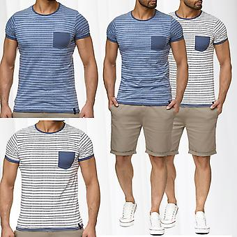 Men's T-Shirt urban surface short sleeve contrast Maritim striped sailor fashion