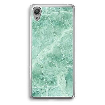 Sony Xperia XA1 Transparent Case - Green marble