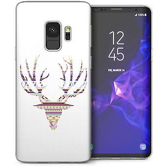 Samsung Galaxy S9 Azteekse Stag afdrukken TPU Gel geval – paars