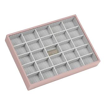 Soft Pink & Grey Spot Classic 25 Section Jewellery Tray