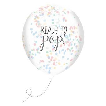 Club Green J025UX Ready To Pop Unisex Confetti Filled Balloons (5 pack)