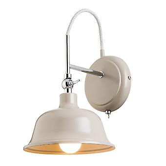 Endon Lighting Laughton Slate Grey And Chrome Wall Light