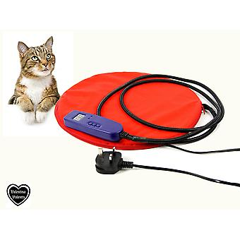CAT DOG PUPPY PET HEATED PAD BED WITH LCD TEMP DISPLAY