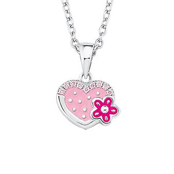 Princess Lillifee child kids necklace silver floral 2021045
