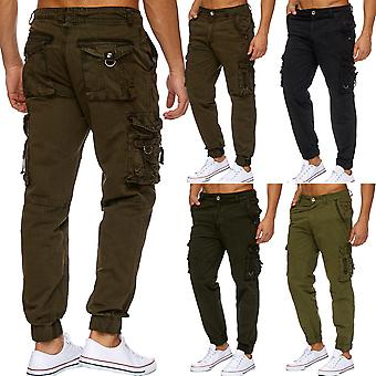 Mens Cargo Trousers Functional Trousers Loose Fit 100% Cotton Working Trousers Cargohose
