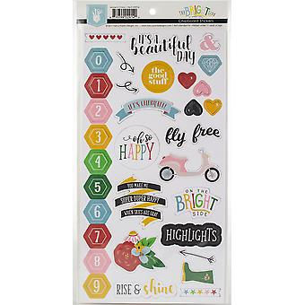 The Bright Side Chipboard Stickers-