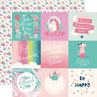 Imagine That Girl Double-Sided Cardstock 12