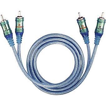 Oehlbach RCA Audio/phono Cable [2x RCA plug (phono) - 2x RCA plug (phono)] 3 m Transparent-blue gold plated connectors