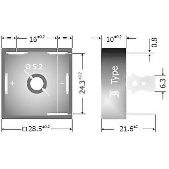 Diotec DB25-16 Diode brug D 63 1600 V 25 A 3-fase