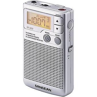 Sangean Pocket 250 FM Taschenradio AM, FM-Silber