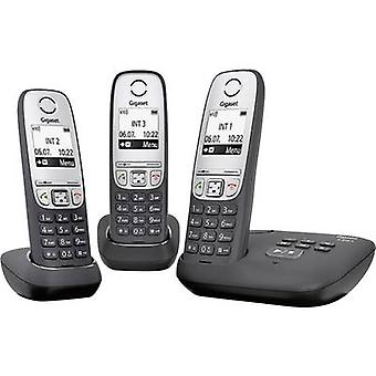 Gigaset A415A Trio Cordless analogue Answerphone, Hands-free Black