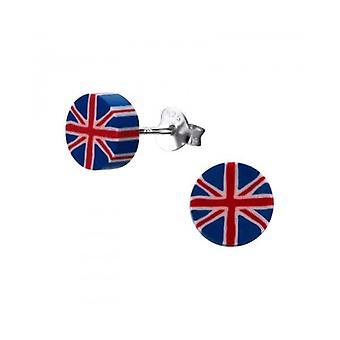 Union Jack dragen Union Jack zilver & kunststof Ear Studs - Earings