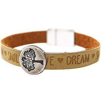 Gemshine - Damen - Armband - Lebensbaum - Natur - WISHES - Braun - Sand - Magnetverschluss