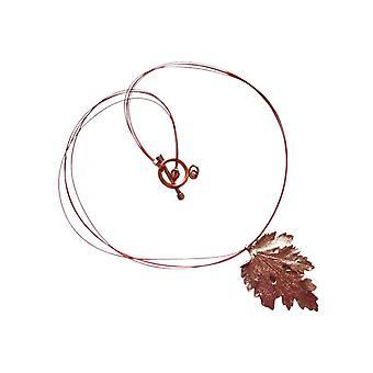 Gemshine - Panie - Naszyjnik - Naszyjniki - rose gold pozłacane - arkusz - różowo - naturalne - 3,5 cm