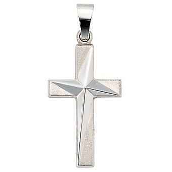 Pendant cross 375 gold frosted white gold cross pendant gold cross