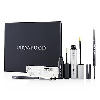 Lashfood BrowFood Brow Transformation System - # Dark Brunette (Medium/Dark) - 5pcs
