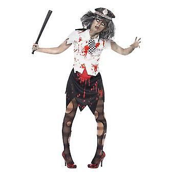 Frauen Kostüme Zombie Polizei Kostüm für halloween