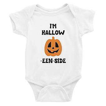 Hollow Inside Pumpkin Baby Bodysuit Gift White