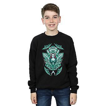 DC Comics jungen Aquaman Mera Crest Sweatshirt