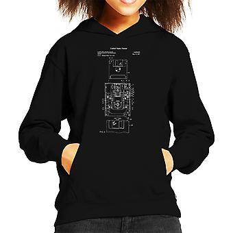 Floppy Disk Drive Patent Blueprint Kid's Hooded Sweatshirt