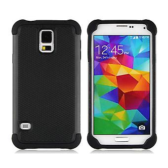 Stuff Certified ® For Samsung Galaxy S3 - Hybrid Armor Case Cover Cas Silicone TPU Case Black
