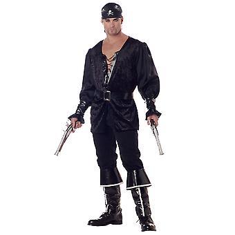 Blackheart The Pirate Caribbean Swashbuckler Buccaneer Captain Mens Costume